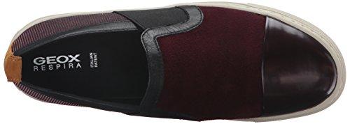 Geox Damen D Breeda A Sneakers Rot (DK BURGUNDY/BORDEAUXC7J7B)