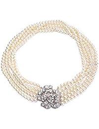 Utopiat audrey style strap flapper costume collar de perlas mujeres inspiradas en BAT's