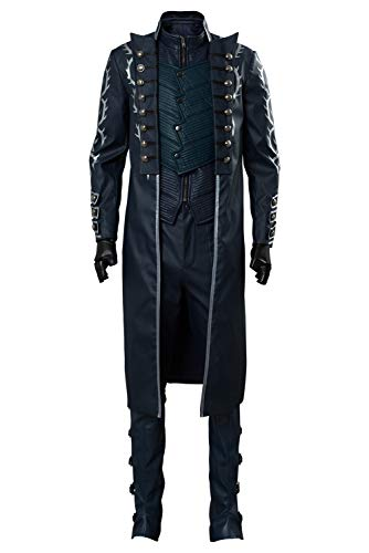 Tollstore Herren DMC 5 Devil May Cry V Vergil Mantel Cosplay Kostüm NEU (Dmc 5 Kostüm)