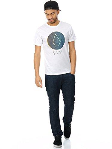 Herren T-Shirt Volcom Cracked BSC T-Shirt White