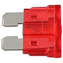 CAR ELECTRICAL SPARE 10x STANDARD BLADE FUSES 10 AMP FOR ELECTRICAL COMPONENTS