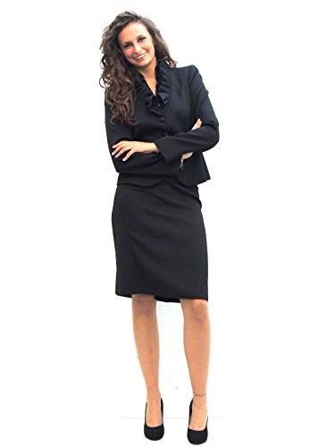 Completo donna Armani collo con rouches FM169 (52)