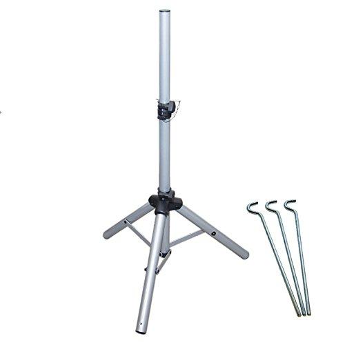 PremiumX Dreibein Stativ Alu klein Dreibenstativ ideal für Camping Balkon Terasse Tripod Aluminium Balkonständer