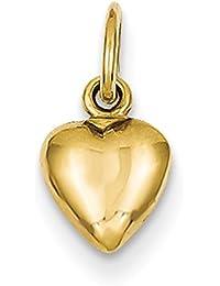 Lex & Lu - Colgante de oro amarillo sólido pulido de 14 quilates con ...