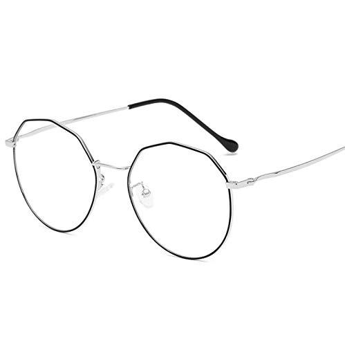 Retro Tee-off Glasses Frame Wholesale Metal Big Frame Anti-blue Glasses Fashion On The Next Round E