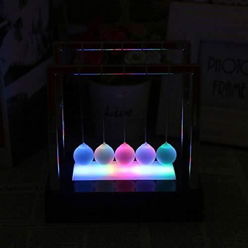 Oce180anYLV LED Licht Newton Cradle Pendel Balance Swing Ball dekorative Verzierung Small