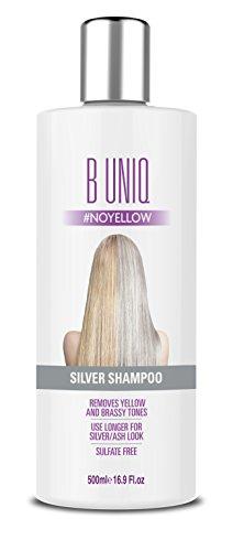 Silbershampoo für blonde, blondierte, gesträhnte & graue Haare - Violett-Pigmente gegen Gelbstich - revitalisierend & sulfatfrei - 500ml