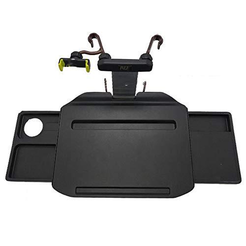 QINAIDI Multifunktionsauto faltender Dinning Schreibtisch, Rücksitz-Tabelle für Nahrungsmittelgetränk-Notizbuch-Becherhalter