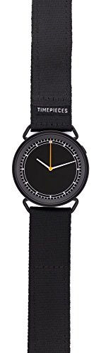 Rosendahl - MUW wrist watch - with black dial, orange hand and black strap