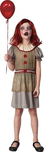 Halloween Kostüm Clown Girl - Ciao-Costume Horror Creepy Clown Mädchen 7-10 Jahre, mehrfarbig, 16073.7-10