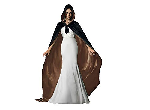 Black Coat Pirate Kostüm - Special Bridal Umhang schwarz Erwachsener Unisex Halloween umhang flügel Cape Schwarz Gold XL
