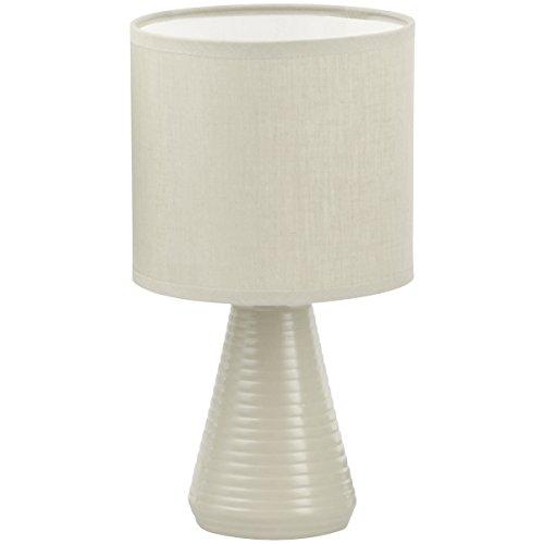 Promobo - Lampe Design Pied Forme Goutte Abat Jour Coloris Gris