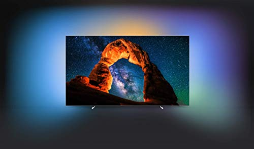 Philips 55OLED803/12 139cm (55 Zoll) OLED-Fernseher (Ambilight, 4K Ultra HD, Triple Tuner, Smart TV)
