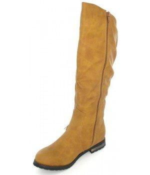 Chaussure Bas Prix - Bottes femme camel - H1013-8 Camel
