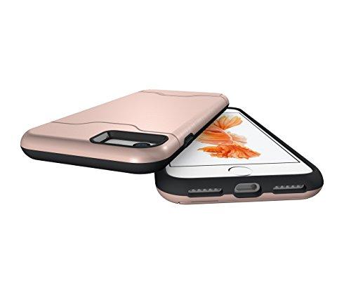 Schutzhülle für Apple iPhone 7 4.7 Zoll aufstellbares Hardcase mit Kartenfach Schutzcover (Bronze) Bronze