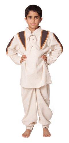(Bäres Mittelalter Hemden, Tuniken kleiner Recke - Kinder Markthemd - Kinder Maik für 9-11 jährige/natur / bordeaux)