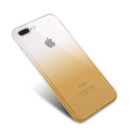 Pnizun - Telefon-Beutel-Kasten für iPhone X XS Max 6S 7 Plus-Abdeckung Ultra Thin Girly weichen Silikon-Hülle für iPhone X XS XR 8 6 6S Plus 5 [Gelb Für iPhone X] - Sechs Iphone Otterbox Gelb