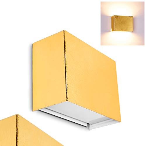 Applique murale dorée Dorata - Lampe murale prévue pour ampoule G9 de max. 28W - Applique up/down à intensité variable