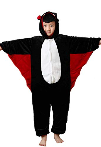 Kigurumi Pigiami Animali da Bimbi Bambini Tuta Costume Carnevale Halloween Festa Cosplay unisex-XS/4-5years-Pipistrello