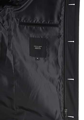JACK & JONES Premium Jacinto Herren Winter Mantel Wollmantel Lange Winterjacke mit Stehkragen, Größe:L, Farbe:Black - 6