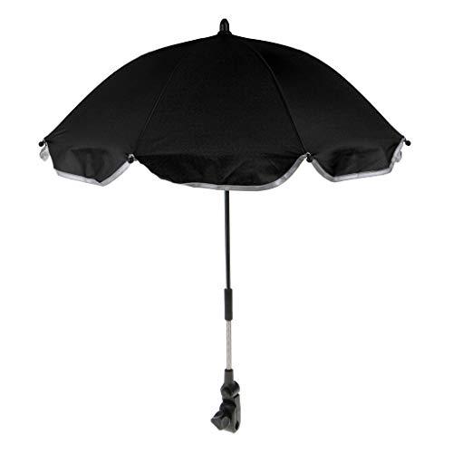 Perfeclan Amovible Poussette Parapluie Réglable Bébé Poussette Parasol Parasol avec Parapluie Support - Noir, comme décrit