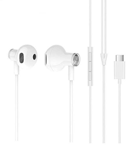 sami Earphones for All USB Type C Smartphone Wired Headset with Mic in Ear with Bluetooth (White) Image 7
