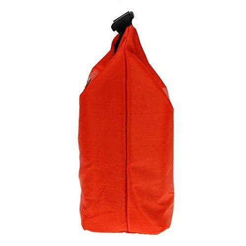 Wasserdichte Picknicktasche Campingtasche Lunch Bag Mittagessen Tasche Kühltasche Thermotasche für Ausflug Camping Schule Büro ROT Rot