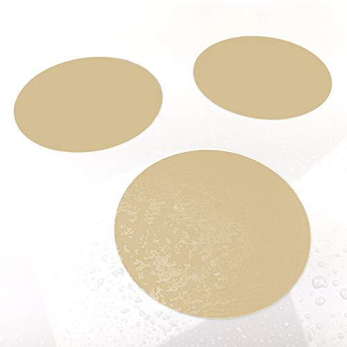 AnTina TAPES 10 Anti-Rutsch-Aufkleber für Duschen, Badewannen, Whirpool, selbstklebend (Creme)