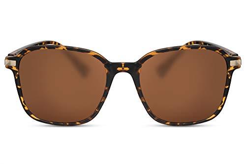 Cheapass Sonnenbrille Schmetterling Braun Über-Groß Oversized X-XL Designer-Brille Leo-Pard Plastik Damen