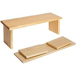 Plegable - Acabado de pino macizo, una de las mejores opciones de compra por su reducido espacio y utilidad