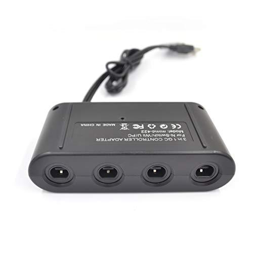 Delicacydex MAYFLASH Adaptateur Manette Gamecube 4 Ports pour commutateur Wii U & PC USB