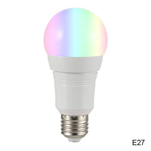 Dastrues WiFi E27 / B22 / E14 LED-Lampe, 16 Millionen Farben, für Google Home Amazon Alexa E27