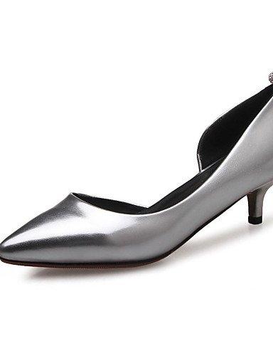 WSS 2016 Chaussures Femme-Mariage / Habillé / Décontracté / Soirée & Evénement-Rose / Argent / Or-Talon Bas-Bout Pointu-Talons-Matières silver-us5.5 / eu36 / uk3.5 / cn35