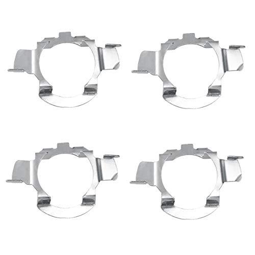 DEDC 4 Stück H7 LED Scheinwerferlampe Halter Adapter Halter Leuchtmittel Projektor Clip Metall Inhaber Adapter