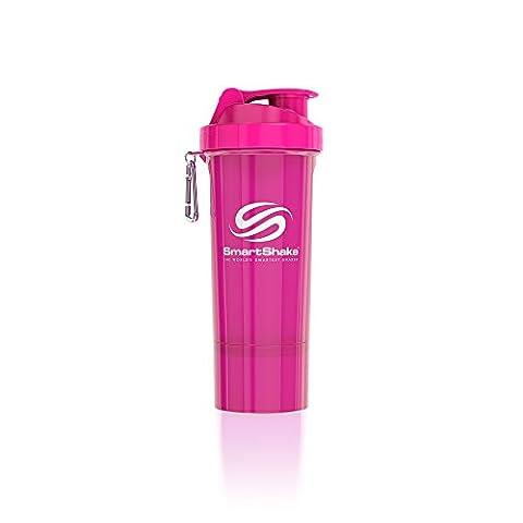 SmartShake 500 ml/18 oz, pink Slim neon, 1er Pack