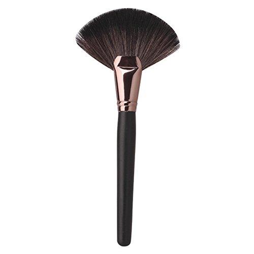 PRO Pinceaux de Maquillage Grand Fan Goat cheveux doux visage poudre Fondation brosse cosmétiques outils