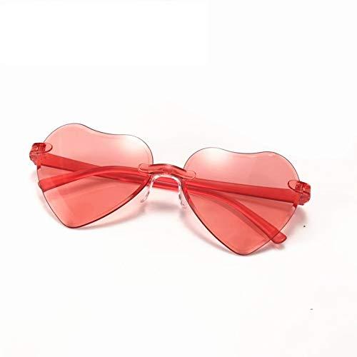 Aienid Vintage Sonnenbrille Pc Herzform Rahmen Weniger Rot Sonnenbrille Für Frauen