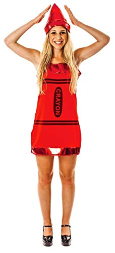 Crayon Dress - Red - Small ()