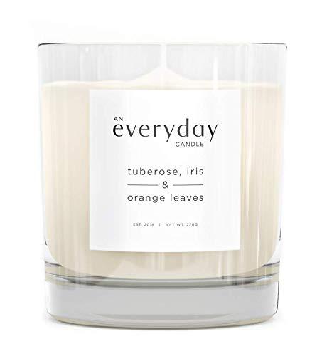 Everyday Studios Ein Alltäglicher Kerze | Tuberose, Iris & Orange Blätter | Luxus Duftkerze Wachs, | Premium Glas Halter (Tuberose-wachs)