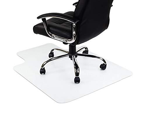 Mqing Transparent Büro Bodenschutzmatte Für Teppich,Hartböden PVC Rechteckige Lippe rutschfest Teppichböden Für Tische Und Stühle Zuhause Parkett Stuhlunterlage-1.5mm-40x60cm(16x24inch) - 24-zoll-vinyl-sitz