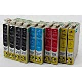 Encre Breiz 10cartuchos remplacent Pack T1295Workforce wf3010WF3520WF3530wf3540wf7015Wf7515Wf7525–T1291T1292T1293T1294