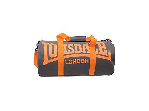Lonsdale London-Bolsa de deporte, Grau - Pink - Weiß