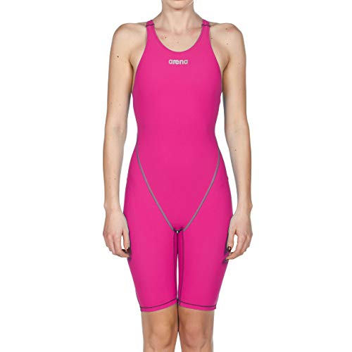 arena Damen Racing-Badeanzug Powerskin ST 2.0 One Piece Open Back, Damen, Women's Powerskin St 2.0 Le Open Back Racesuit, Fuchsia, 32 - 2 Stück Athletic Badeanzug