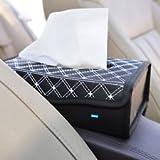 #7: Nikavi RT02 Portable Leather Rectangular Tissue Cover Box (White)