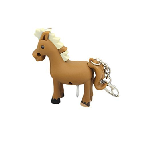 31O1ty7wuKL BEST BUY #1Desuper Cute Horse Luminous Soud LED Key Chain price Reviews uk