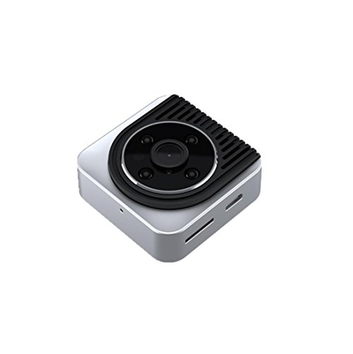 OverDose Mini DV Kamera Wearable Full HD Auto Sport IR Nachtsicht Night Vision DVR Videorecorder Kamera Camcorder DV,44*44*14 mm (Silver)