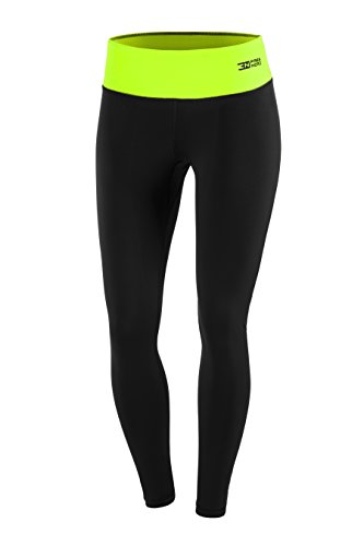 FITTECH PERFORMANCE Damen Thermoaktiv Legging Leggins Strumpfhose Tights Laufhose Sporthose Lang Fitness Pilates Outdoor Radsport Running