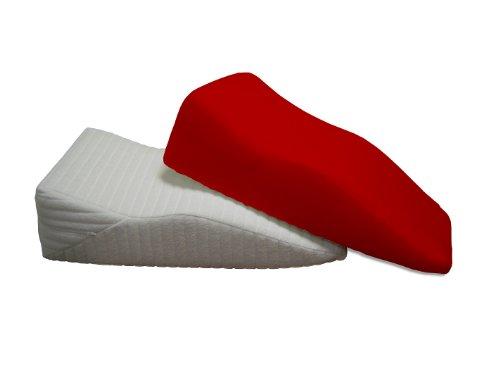 DUKAL, Bezug für Beinruhekissen/Venenkissen, Maße: 40x70 cm, Doppel-Jersey (100% Baumwolle), Farbe: rot