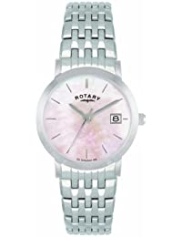 Rotary Women's Quartz Watch with Mother of Pearl Dial Analogue Display and Silver Stainless Steel Bracelet LB02622/07