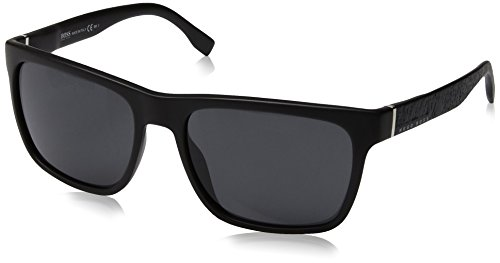BOSS Hugo Herren 0918/S IR DL5 Sonnenbrille, Schwarz (Matt Black/Grey Blue), 56